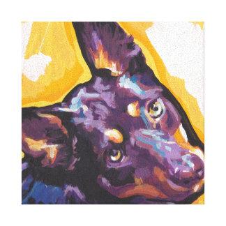 australian kelpie Pop Art on Stretched Canvas