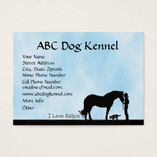 Australian Kelpie Western Motiff Chubby Profile Business Card
