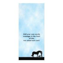 Australian Kelpie Western Silhouette Rack Card