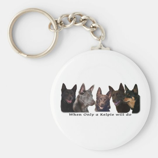 Australian Kelpies All Keychain