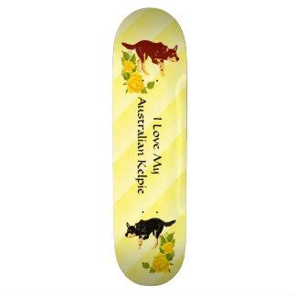 Australian Kelpies & Yellow Roses Skateboard
