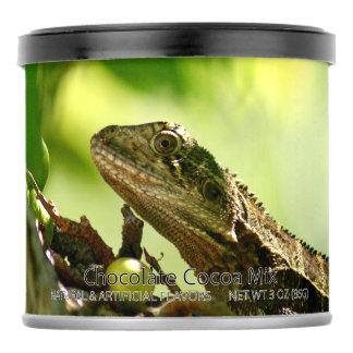 Australian lizard between leaves photo Party Favor Hot Chocolate Drink Mix