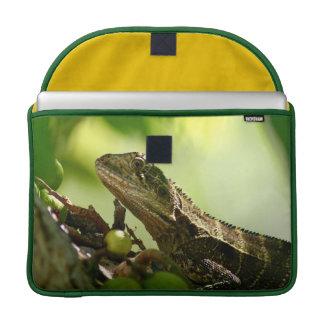 "Australian lizard hiding between leaves, 15"" Photo Sleeve For MacBooks"