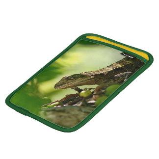 Australian lizard hiding between leaves, Photo iPad Mini Sleeve