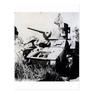 Australian M3 Stuart Tank at Buna, New Guinea Postcard