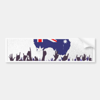 Australian Map And Flag with Audience Bumper Sticker