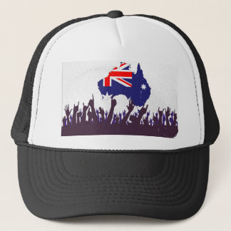 Australian Map And Flag with Audience Trucker Hat