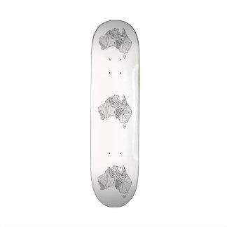 Australian Map Art Skateboard Deck