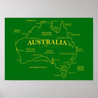 Australian Map Poster