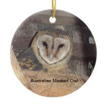 Australian Masked Owl Ceramic Ornament