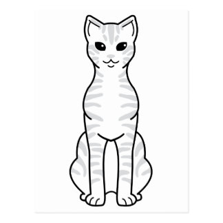 Australian Mist Cat Cartoon Postcard