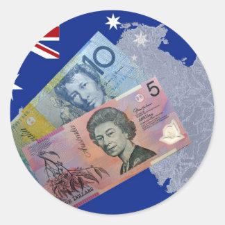 Australian Money Classic Round Sticker