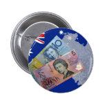Australian Money Pinback Button