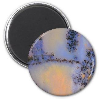 Australian Moss Agate Opus 2 Fridge Magnet