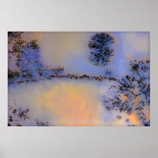 Australian Moss Agate Opus 2 Poster