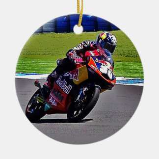 Australian Moto Grand Prix Double-Sided Ceramic Round Christmas Ornament