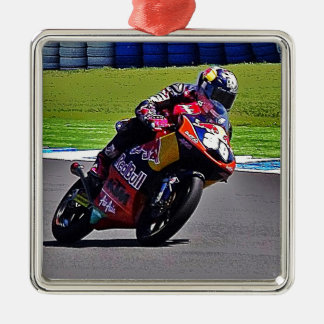 Australian Moto Grand Prix Square Metal Christmas Ornament