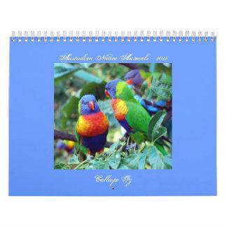 Australian Native Animals Calendar