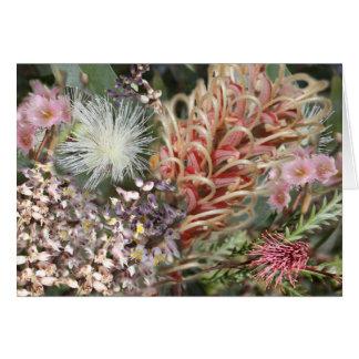 Australian Native Flowers Card