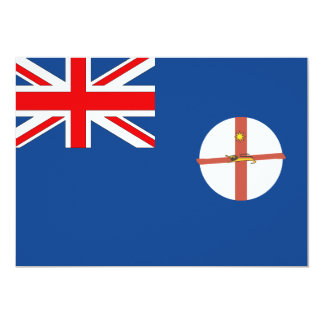 Australian New South Wales Flag Card