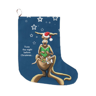 Australian Night before Christmas Large Christmas Stocking