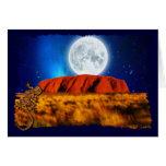 Australian Outback Ayer's Rock & Gecko Card