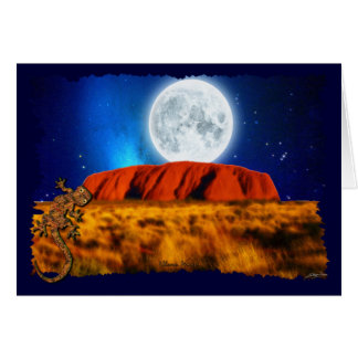 Australian Outback Ayer's Rock & Gecko Card