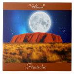 "Australian Outback Ayers Rock ""Uluru 6' Art Tile"