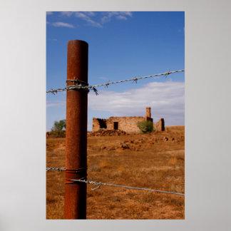 Australian Outback Ruin Poster