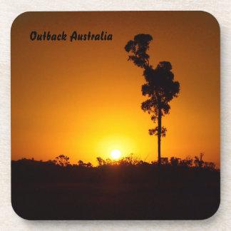 Australian outback sunset coaster set