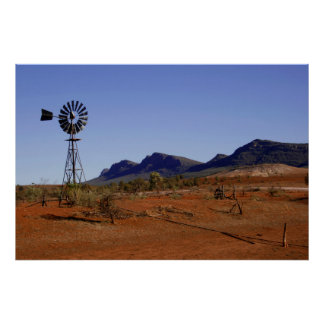 Australian Outback Watervane Poster