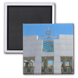 Australian Parliament - Canberra 2 Inch Square Magnet