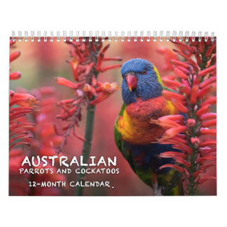 Australian Parrots & Cockatoos calendar - 3 sizes