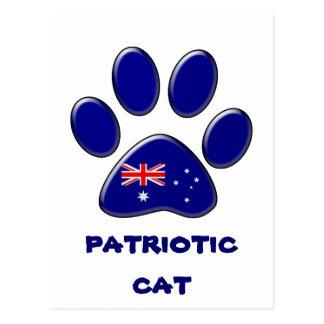 Australian patriotic cat postcard