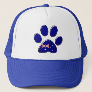 Australian patriotic cat trucker hat