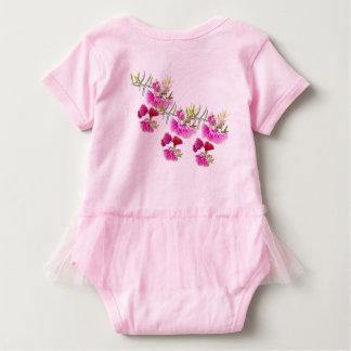 Australian Pink Gumnut Flower Wildflower Baby Bodysuit