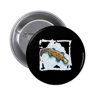 australian platypus design pinback buttons