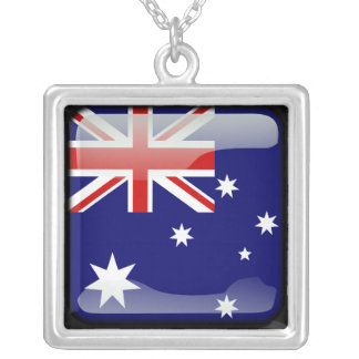 Australian polished silver plated necklace