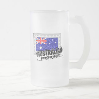 Australian product frosted glass beer mug