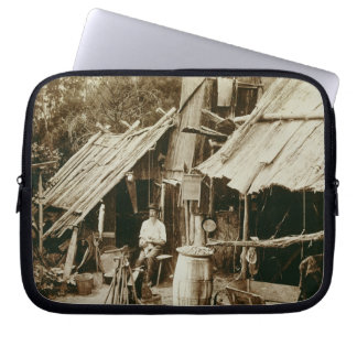 Australian prospector, c.1880s (sepia photo) laptop sleeve