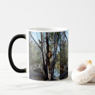 Australian Quokka Family In The Outback, Magic Mug