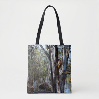 Australian Quokka Family In The Outback, Tote Bag