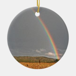Australian rainbow over the Gold Coast Ceramic Ornament