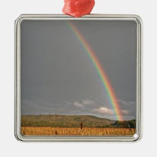 Australian rainbow over the Gold Coast Metal Ornament