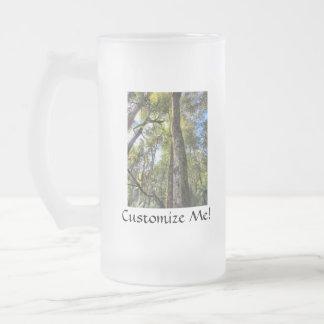 Australian Rainforest Eucalyptus Gum Trees Frosted Glass Beer Mug
