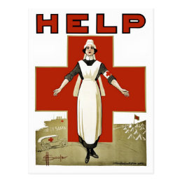 Australian Red Cross vintage World War I Postcard