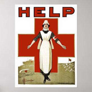 Australian Red Cross vintage World War I Poster