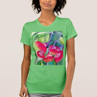 Australian red flowering gumnuts watercolor art T-Shirt