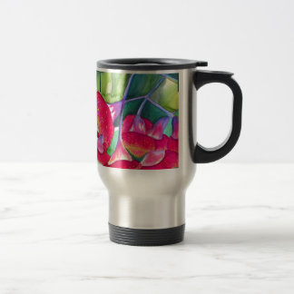 Australian red flowering gumnuts watercolor art travel mug