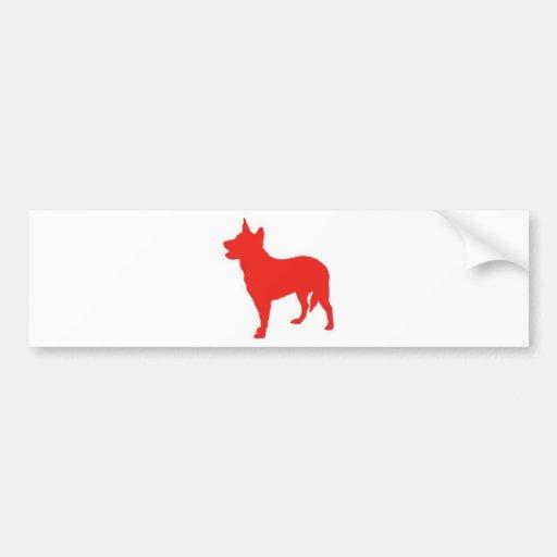 Australian Red Heeler Bumper Sticker